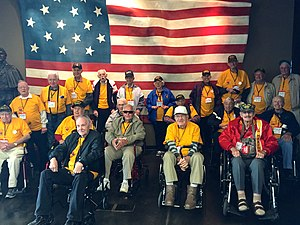 Honor Flight - Ft. McHenry WWII Honor Flight, April 2016