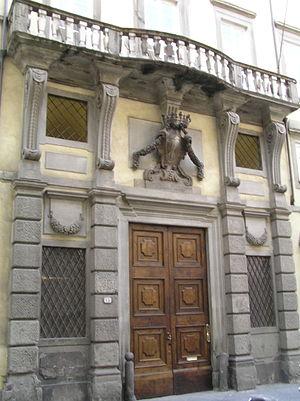 Palazzo Tucci - Palazzo Tucci, front view.
