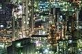 Factory buildings in Yokkaichi at night; 2016.jpg