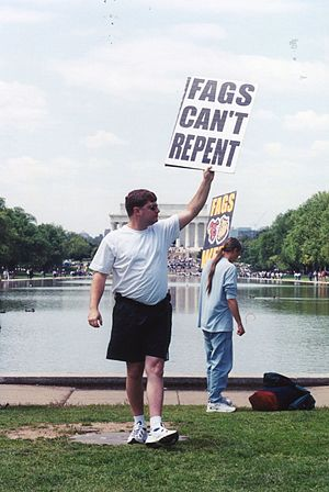 Millennium March on Washington - A counter demonstration by an anti-gay group