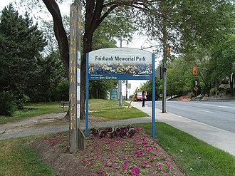 Fairbank Memorial Park - Image: Fairbank Memorial Park sign