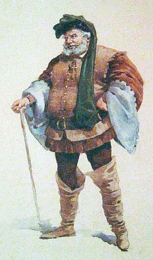 "Shakespearean history - 'Falstaff', (Adolfo Hohenstein) – according to Danby, ""in every sense, the bigger man"" than Hal"