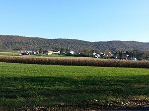 Metal Township, Franklin County, Pennsylvania - Image: Fannettsburg Oct 2013