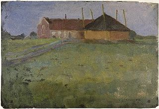 Farmhouse with Haystack
