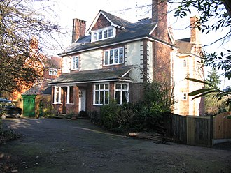 Edgbaston - House on Farquhar Road, typical of the Edgbaston area demonstrating the affluence