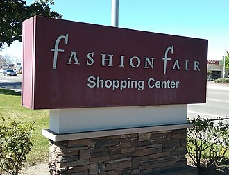 Fashion Fair - Fashion Fair Mall sign, at E. Shaw Ave., Fresno California