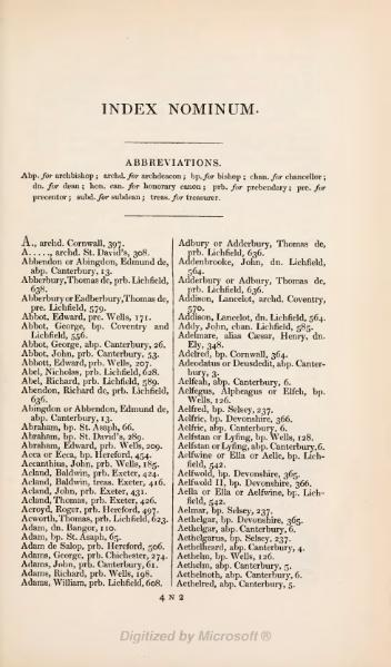 File:Fasti ecclesiae Anglicanae Vol.1 index of names.djvu