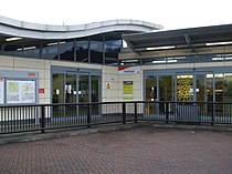 Feltham station entrance.JPG