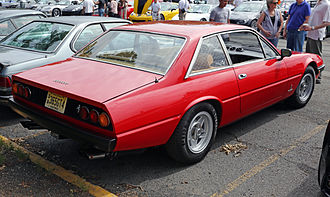 Ferrari 365 GT4 2+2, 400 and 412 - Rear view, showing the six round tail lights characteristic of this model.