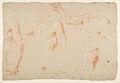 Figure and Drapery studies (recto); Three Studies of a Male Torso for the 'Coronation of Marcantonio Pasqualini' (verso) MET DP812329.jpg