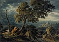 Figures in a Stormy Wooded Landscape by John Glover, watercolor.jpg