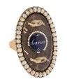 Fingerring av guld med pärlor och hårmatta, 1700-tal - Hallwylska museet - 110229.tif