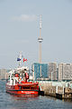 Fireboat William Lyon Mackenzie and the CN Tower.jpg