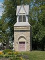 First Lutheran Church tower - Rock Island, Illinois.JPG