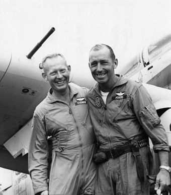 Fisher and Myers after the rescue Fisher Myers Vietnam 1966.jpg