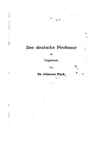File:Flach Der deutsche Professor.djvu