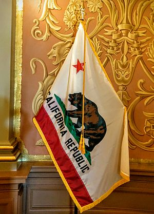 Flag of California - The flag of California on display at the California State Capitol