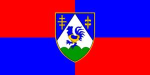 Križevci, Croatia - Image: Flag of Koprivnica Križevci County