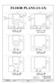 Floor Plans (11-13) - Marshall Space Flight Center, Saturn V Dynamic Test Facility, East Test Area, Huntsville, Madison County, AL HAER ALA,45-HUVI.V,7C- (sheet 7 of 20).png