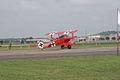 Fokker Dr.I Manfred Richthofen Taxi out 02 Dawn Patrol NMUSAF 26Sept09 (14596607851).jpg