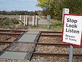 Footpath Rail Crossing - geograph.org.uk - 157708.jpg