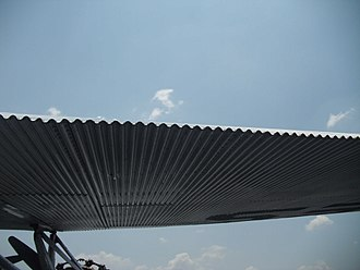 Ford Trimotor - Corrugated wing of a 1929 Ford 4-AT-E Trimotor