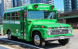 Blue Bird Corporation - Early 1960s Blue Bird/Ford B500 school bus (converted to a party bus)