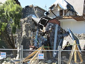 Cranmer Court - Grimsby's Restaurant after the 2011 earthquake.