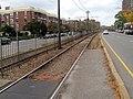 Former inbound platform at Greycliff Road, October 2016.JPG