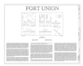 Fort Union, State Highway No. 161, Watrous, Mora County, NM HABS NM-164 (sheet 1 of 7).png