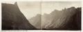 Fotografi av Romsdals horn och Troldt. Romsdalen, Norge. Panorama - Hallwylska museet - 105695.tif