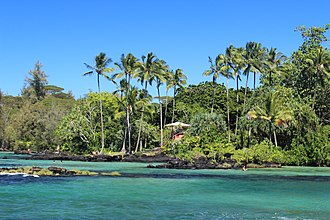 "Hawaii (island) - James Kealoha Beach, ""Carlsmith Beach Park"", in Hilo"