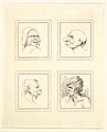 Four Heads (from Characaturas by Leonardo da Vinci, from Drawings by Wincelslaus Hollar, out of the Portland Museum) MET DP824110.jpg