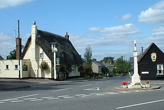 Fowlmere Human settlement in England