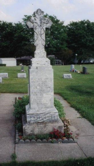 Samuel Mazzuchelli - Fr. Mazzuchelli's grave in Benton, Wisconsin
