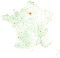 France - 2011 population density - 200 m × 200 m square grid.png