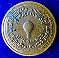 France 1870 Aeronautics Token Medal, Siege of Paris, Hot Air Balloon Le Washington, obverse.jpg
