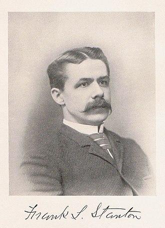 Frank Lebby Stanton - Stanton circa 1892
