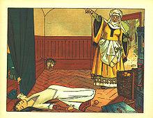 La regina ha avvelenato Biancaneve, di Franz Jüttner (1865–1925)