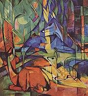 Rehe im Walde oleh Franz Marc