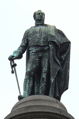 Prince Frederick, Duke of York and Albany - Statue of Frederick Duke of York in Waterloo Place, Westminster, London