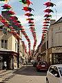 Fresnay-sur-Sarthe, Grande Rue vers l'est, décoration 2019.jpg