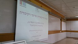 From Wikipedia to Wikidata Course at TAU - opening of the course 02.jpg