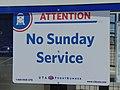FrontRunner No Sunday Service sign, Jul 16.jpg
