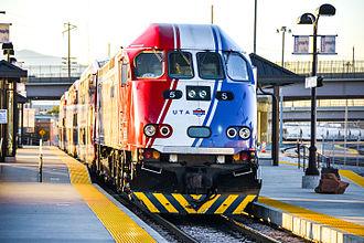 Salt Lake City Intermodal Hub - FrontRunner platforms