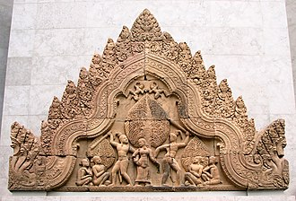 Khmer sculpture - Relief from Angkor