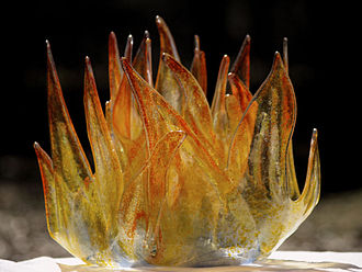 Glass fusing - Fused and kiln-formed glass sculpture.
