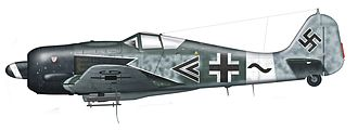 "Jagdgeschwader 3 - Fw 190A ""Sturmbock"" fighter belonging to the unit"