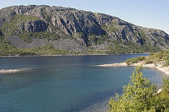Nesseby - View of the lake Gánddajávri
