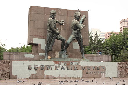 Güvenpark monument in Ankara after the protests Güvenlik Anıtı - 6 Jun 13.JPG